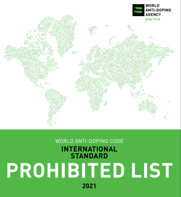 WADA has published the revised Prohibited List for 2021 ©WADA
