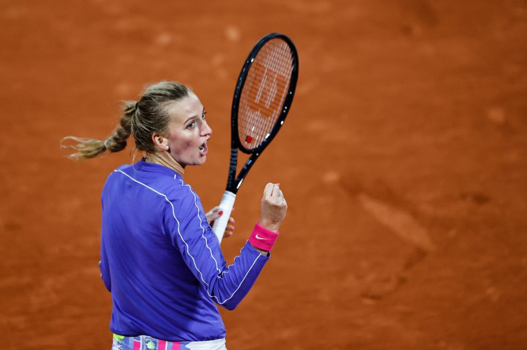 Czech seventh seed Petra Kvitová is through to the fourth round at Roland Garros for the first time since 2015 ©Getty Images