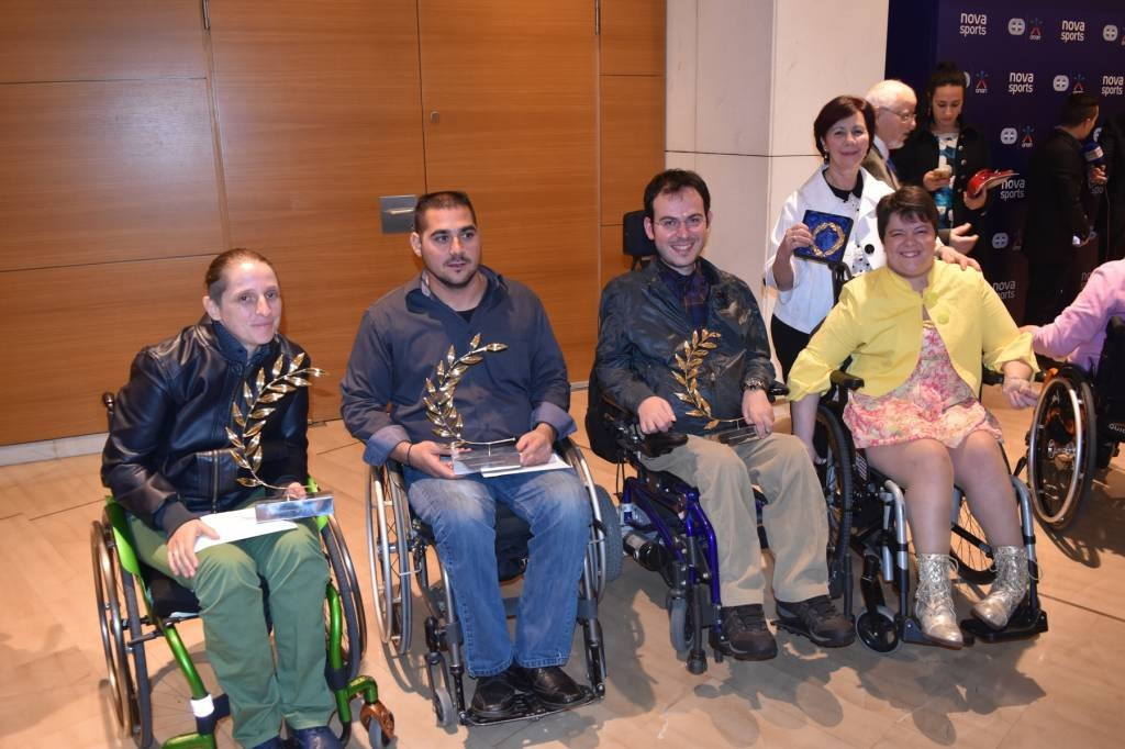 Greek Para-athletes have been honoured at the Panhellenic Association of Sports Press annual awards ©Hellenic Paralympic Committee