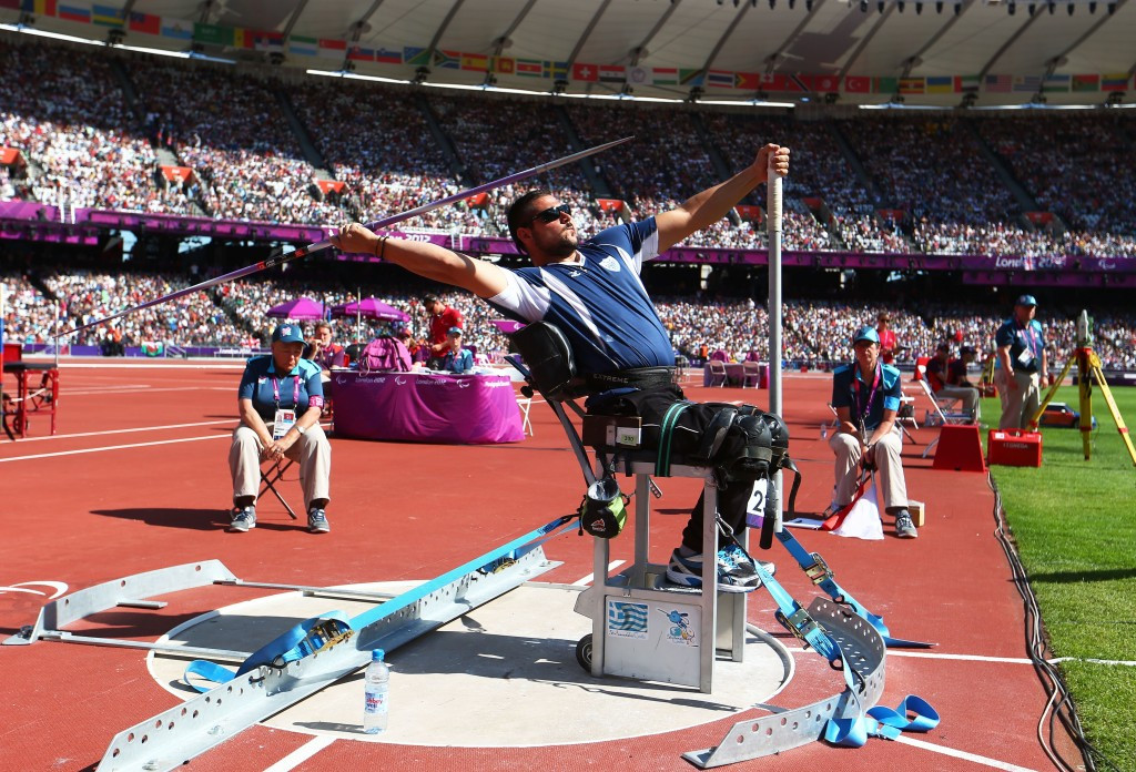 Manolis Stefanoudakis claimed Greece's Male Athlete of the Year with a Disability Award after winning a gold medal at the IPC Athletics World Championships gold in Doha ©Getty Images