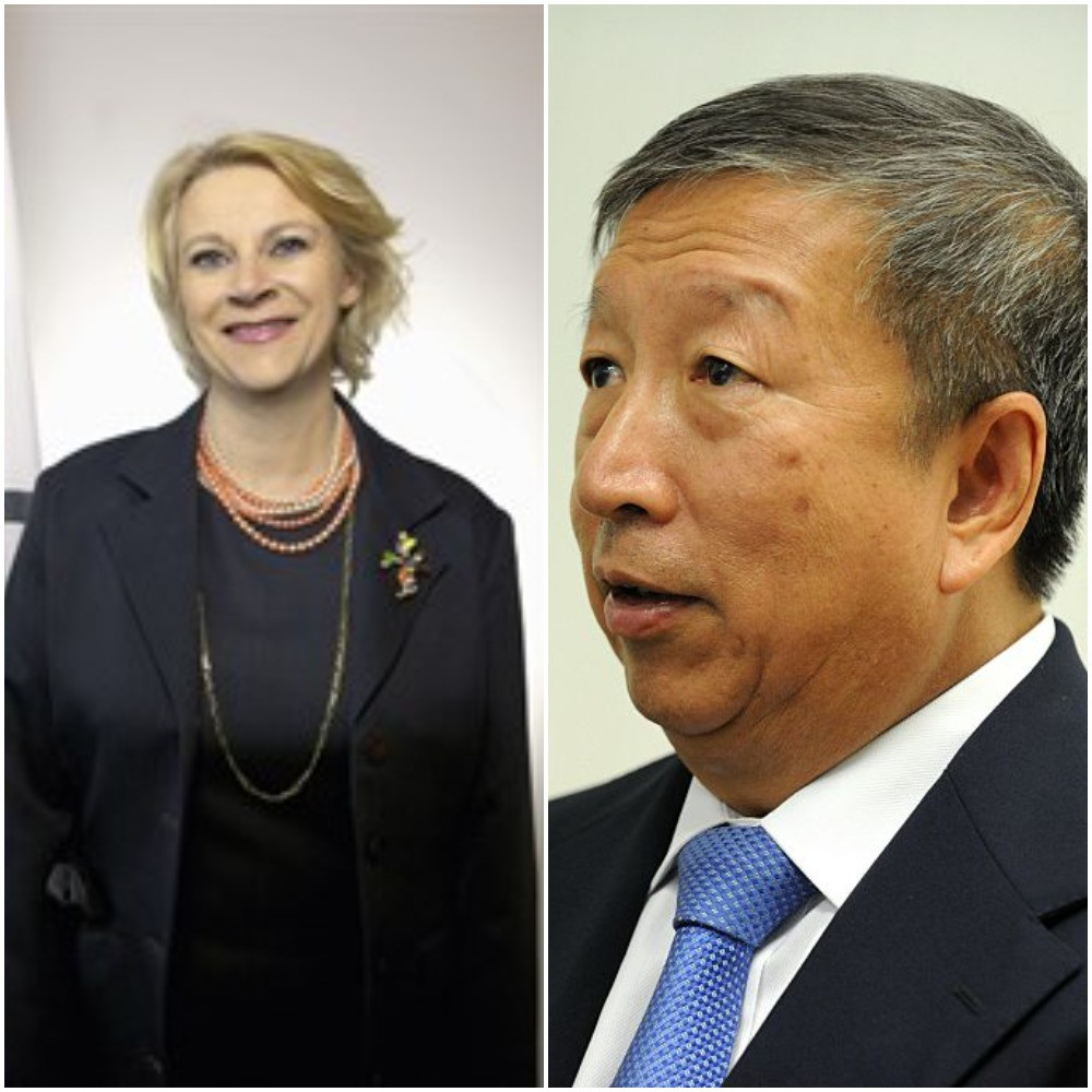 An email from Ser Miang, right, quoting the IOC chief ethics and compliance officer has sparked a public dispute between World Sailing and the IOC ©ITG