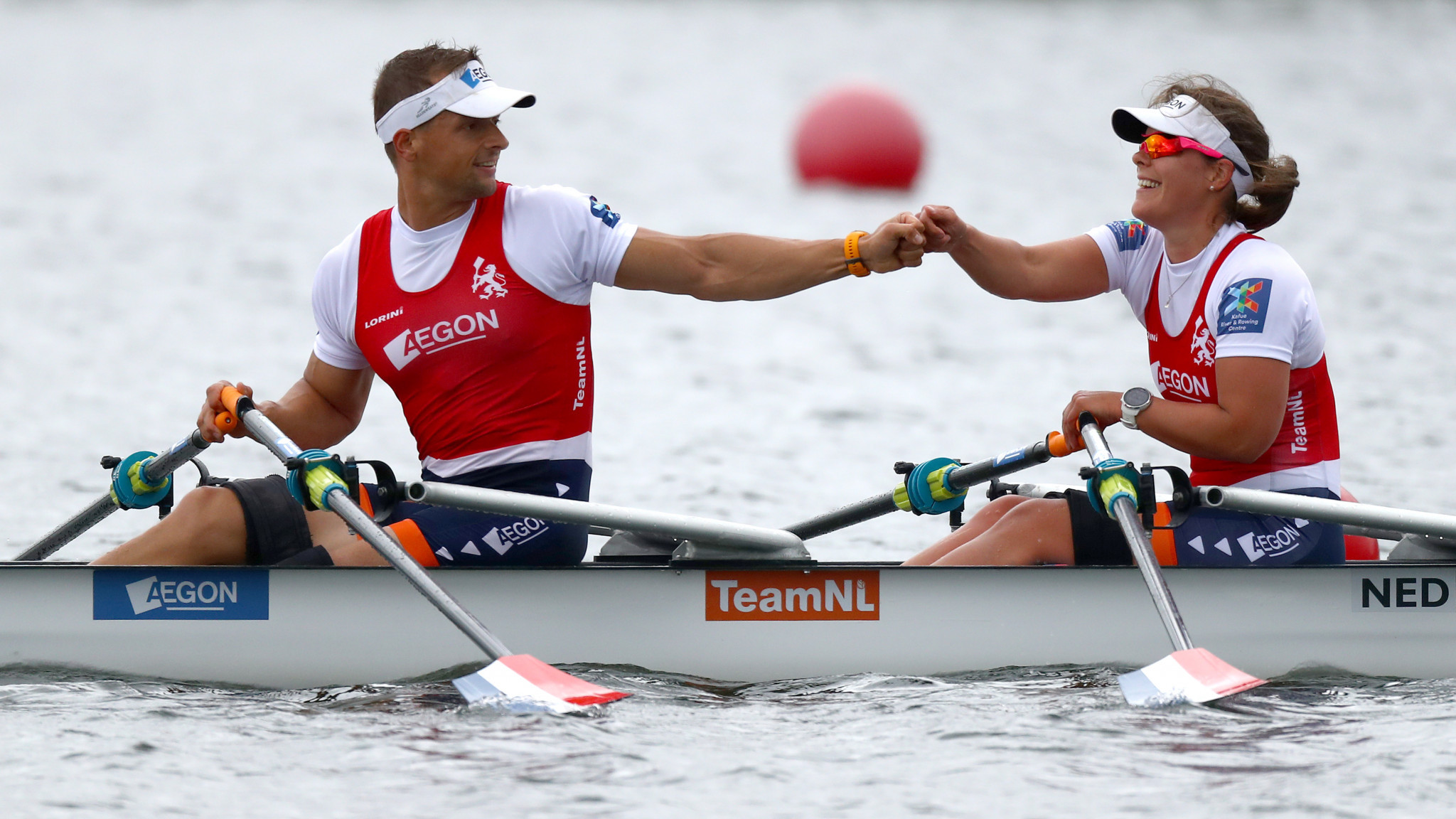 Corne de Koning and Annika van der Meer will contest the mixed double sculls PR2 event ©Getty Images