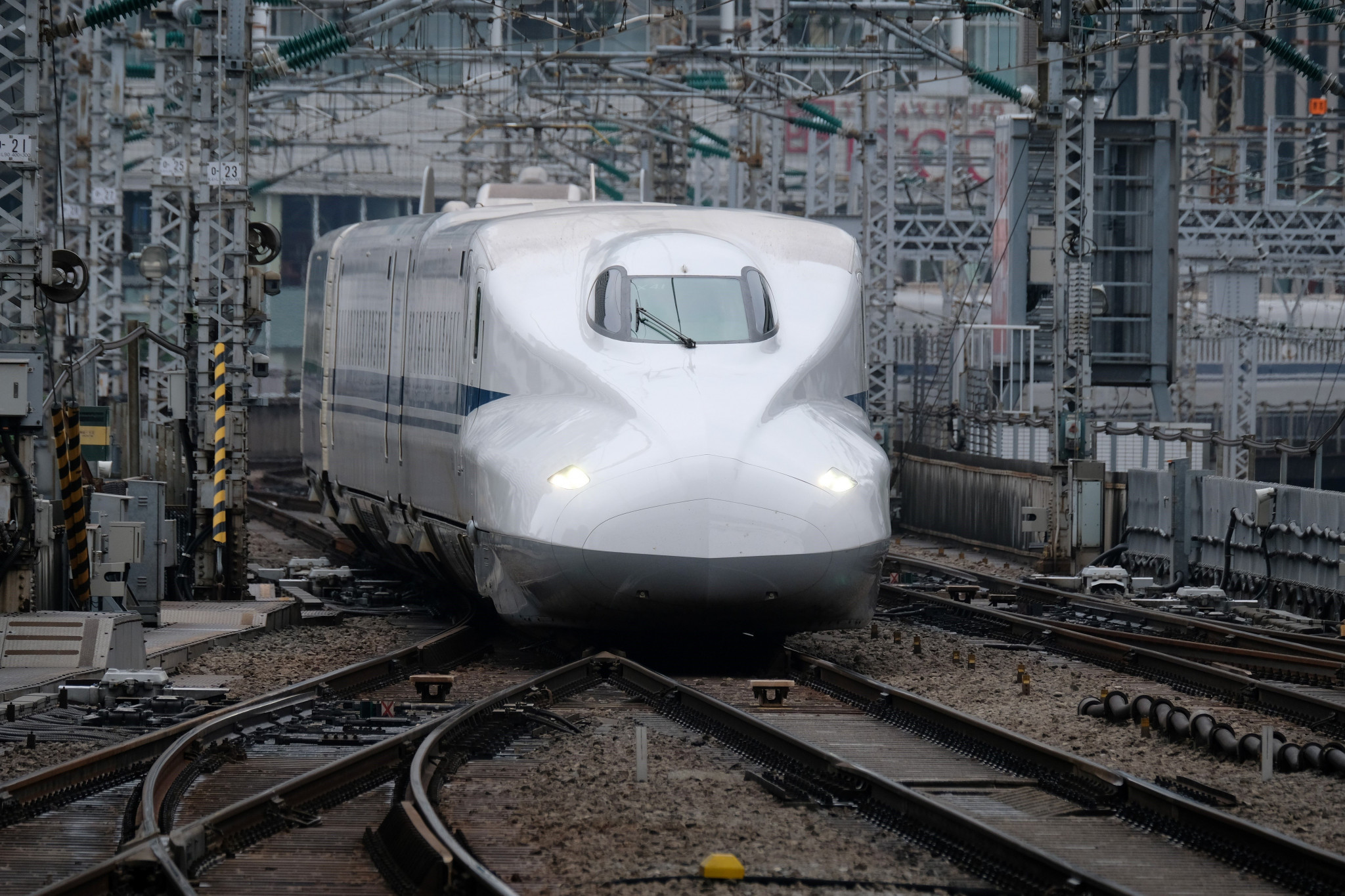 The Bullet train was launched just before the Tokyo 1964 Olympics - and remains a familiar fixture within the Japanese city ©Getty Images