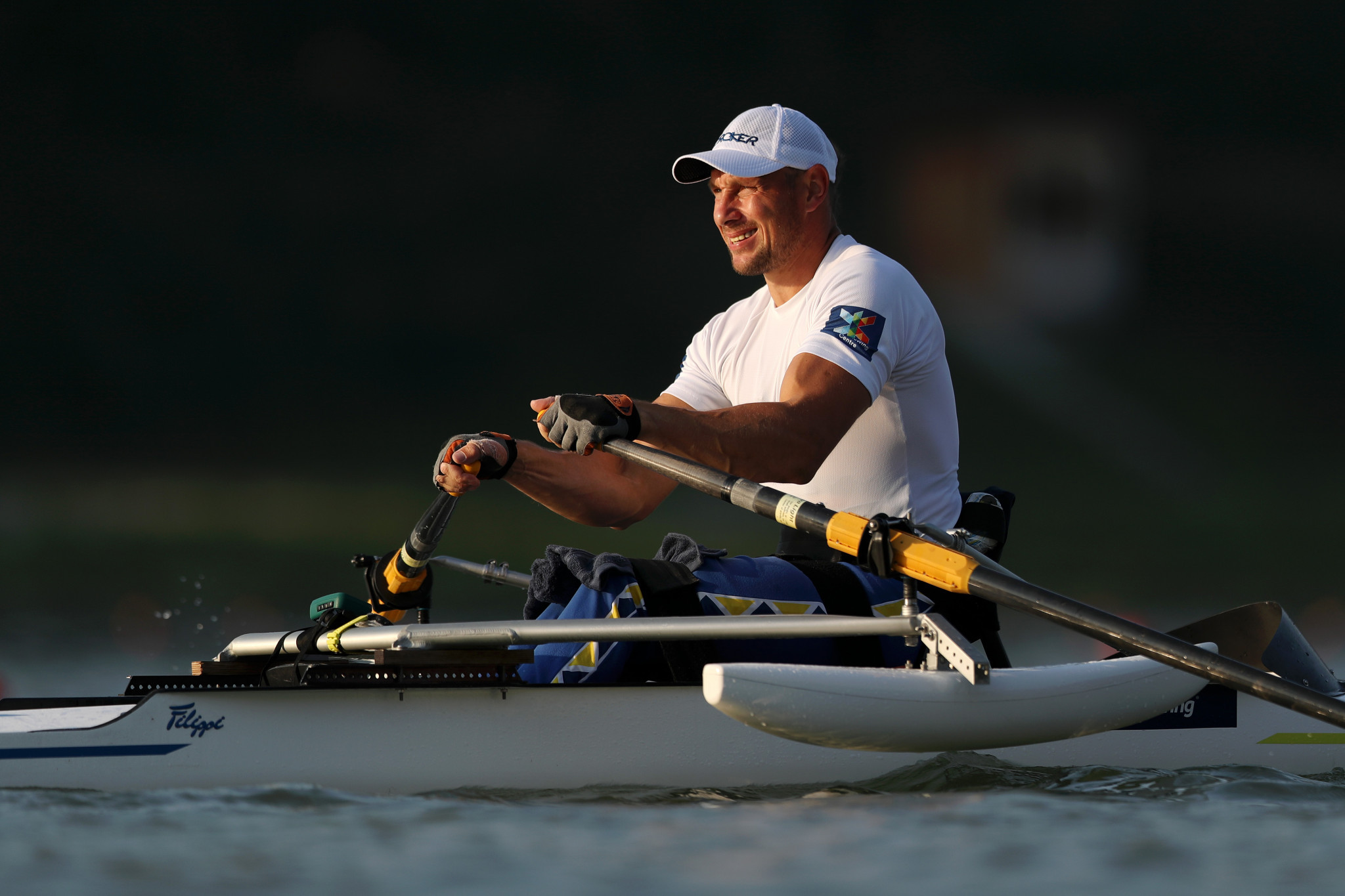 Roman Polianskyi won the European Rowing Championships title with victory in the PR1 men's single sculls ©Getty Images