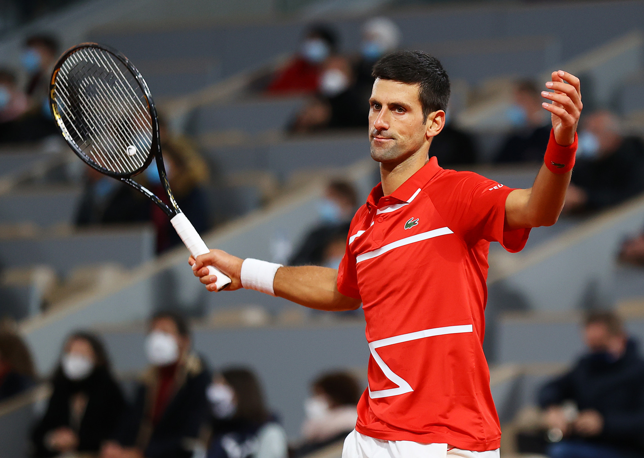 Djokovic had a day to forget as he struggled to thwart an in-form Nadal in Paris to lose a competitive match for the first time in 2020 ©Getty Images