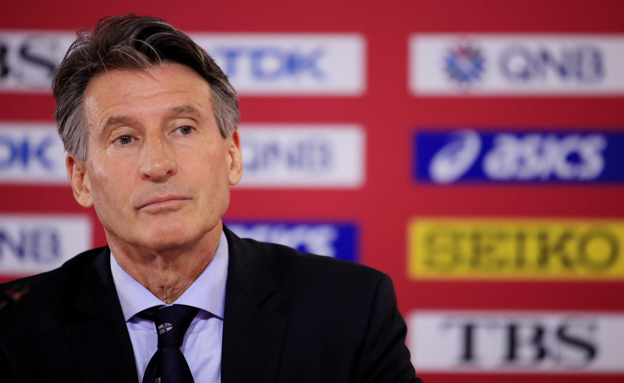 Sebastian Coe delivered a keynote speech on the opening day of the European Athletics e-Convention ©Getty Images