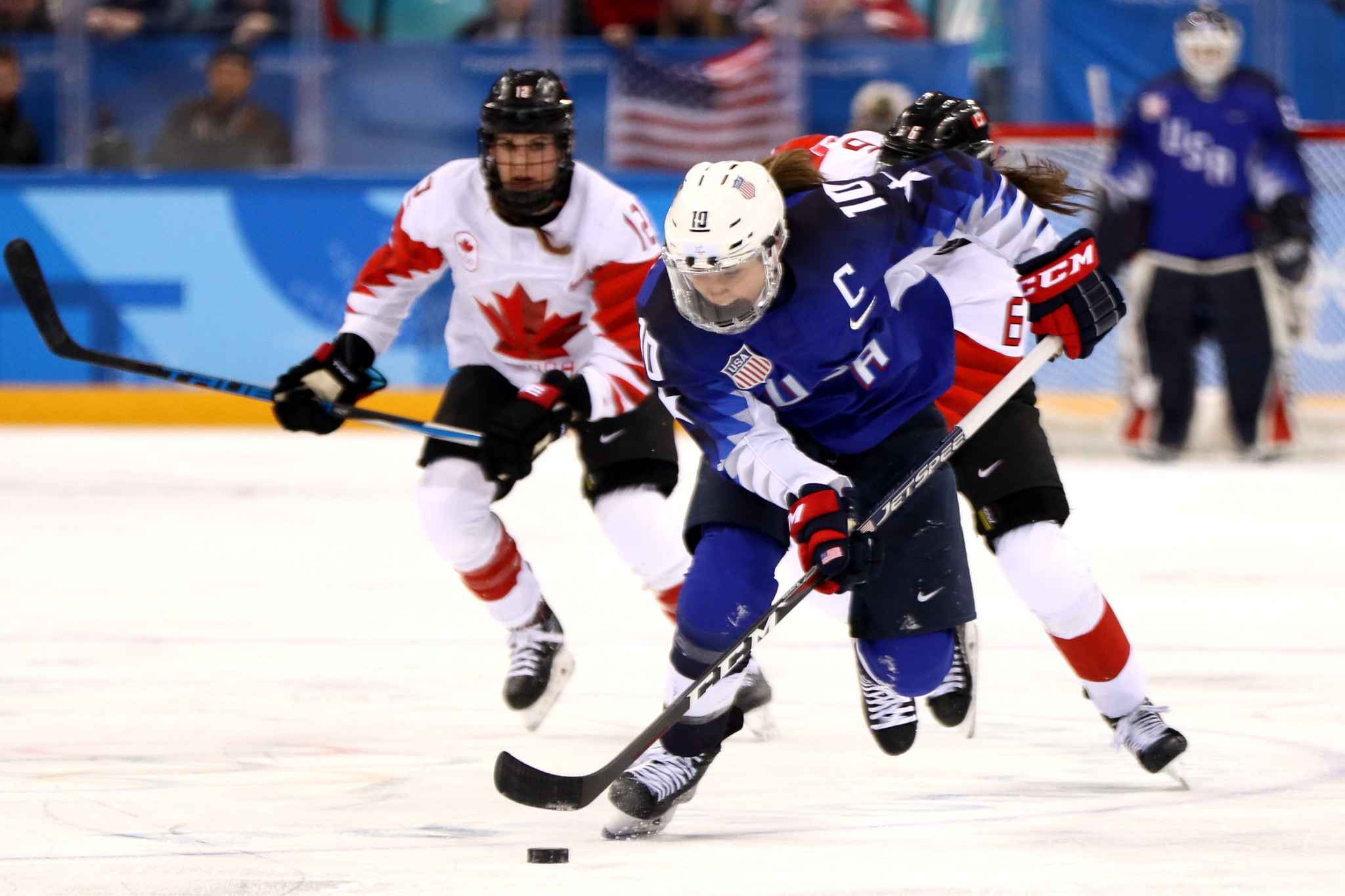 Meghan Duggan captained the American ice hockey team which won Olympic gold at Pyeongchang 2018 ©Getty Images