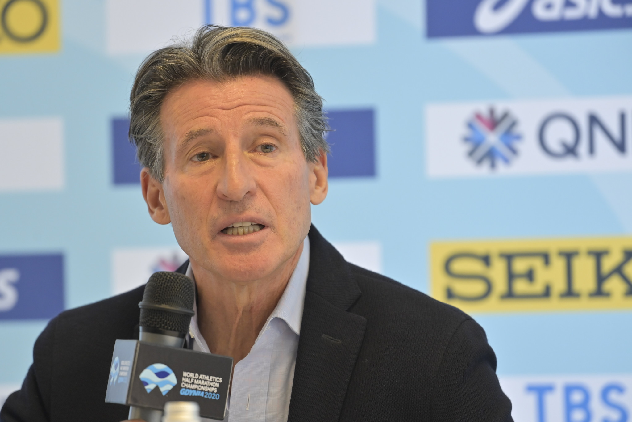 World Athletics President Sebastian Coe has strongly defended the use of Wavelight technology in targeting records on the track ©Getty Images