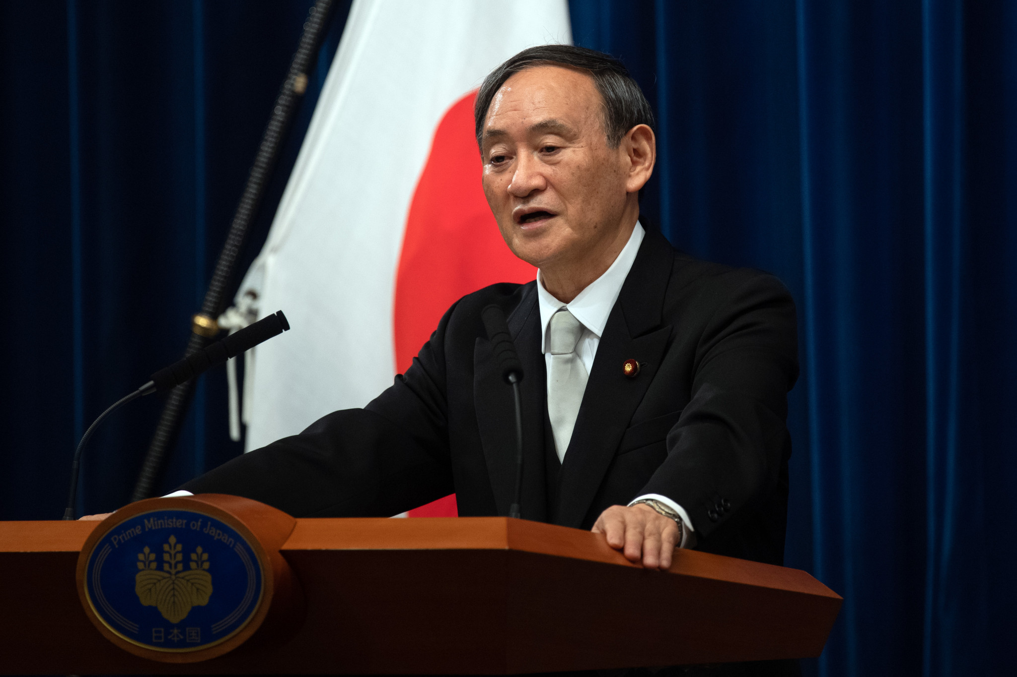 """Japanese Prime Minister Yoshihide Suga said he wants to """"make sure"""" Tokyo 2020 takes place next year ©Getty Images"""