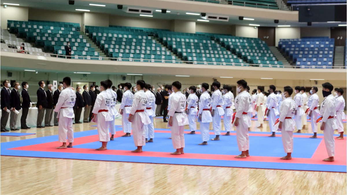 Nippon Budokan Hall hosted Japan's first major karate tournament since the COVID-19 outbreak ©WKF