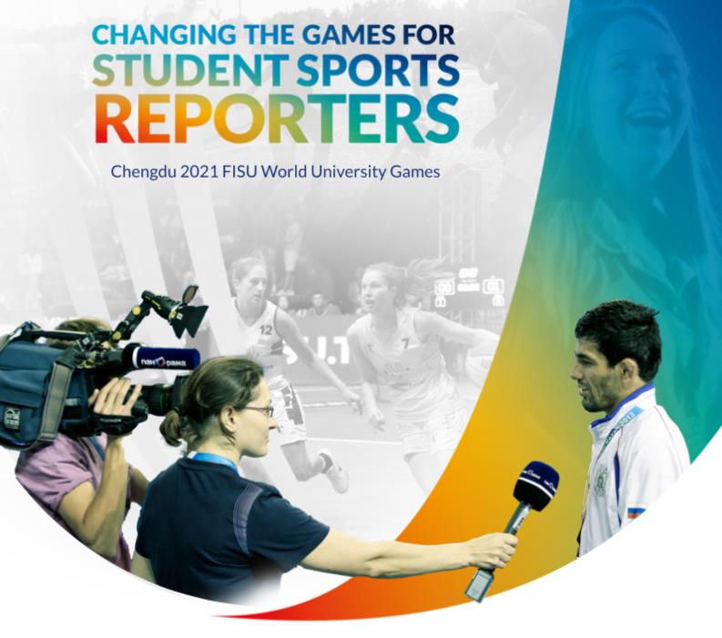FISU launch young reporters programme for Chengdu 2021