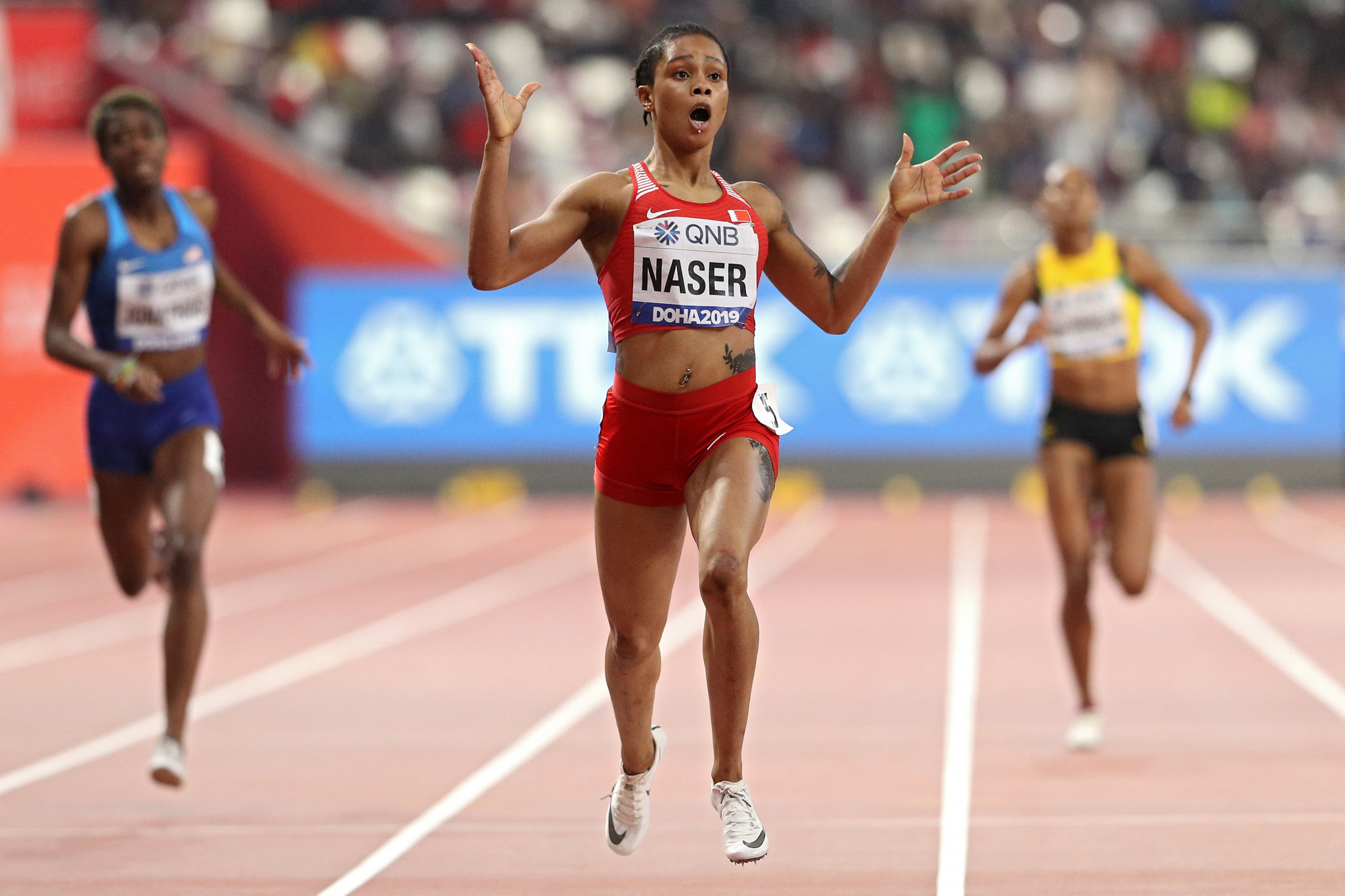 Salwa Eid Naser won the world 400m title in Doha last year ©Getty Images