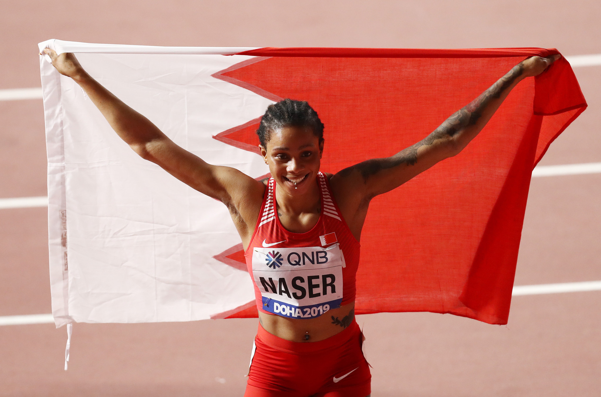 Salwa Eid Naser will be allowed to run at the re-arranged Olympic Games in Tokyo after escaping a two-year doping ban ©Getty Images