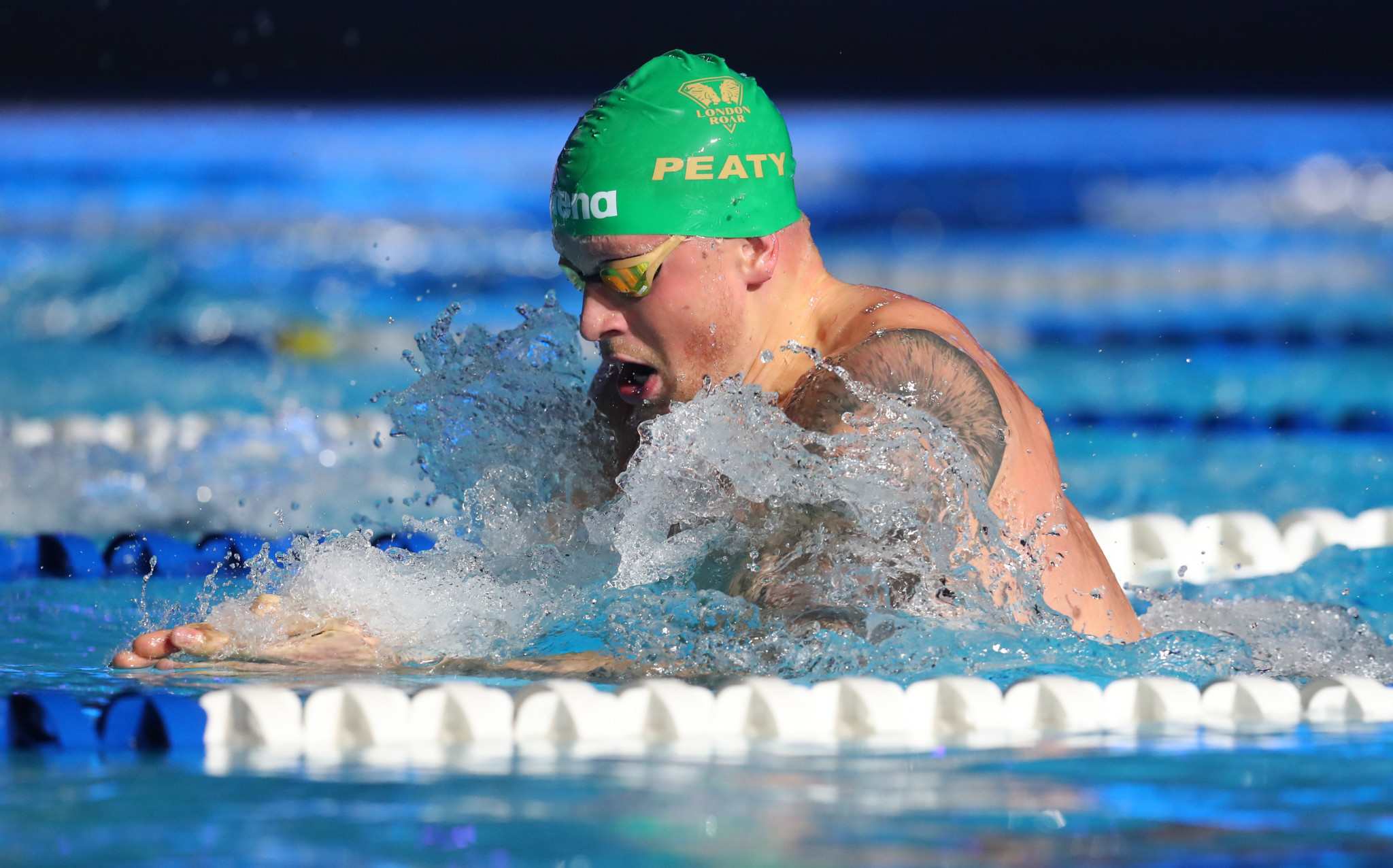 Olympic champion Adam Peaty is competing in the ISL which is largely taking place in a bio-secure bubble in Budapest ©Getty Images