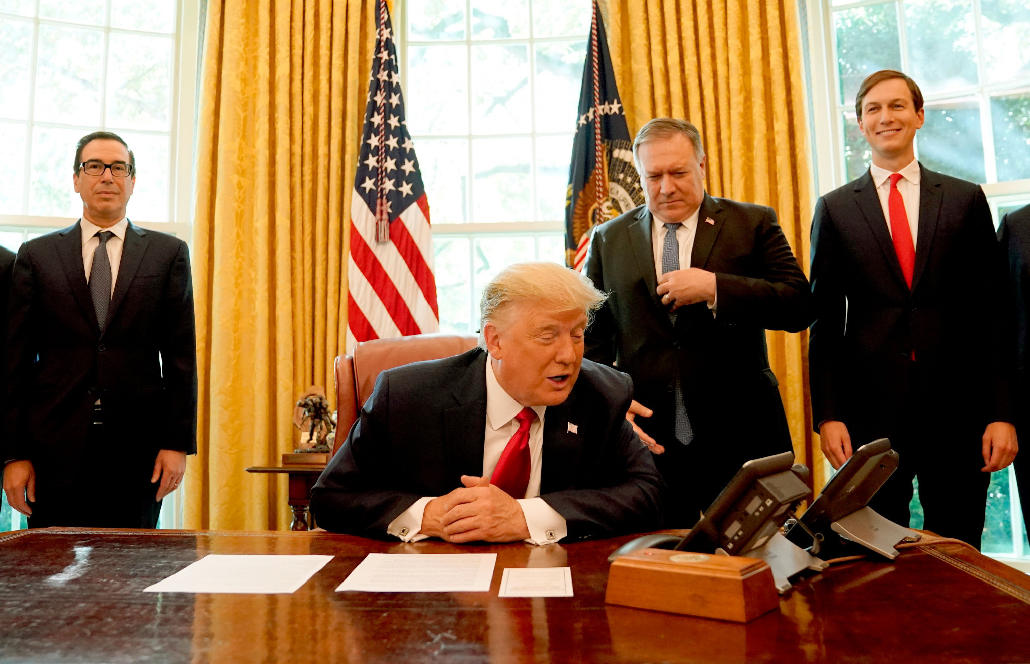 US President Donald Trump has been presented with the bill ©Getty Images