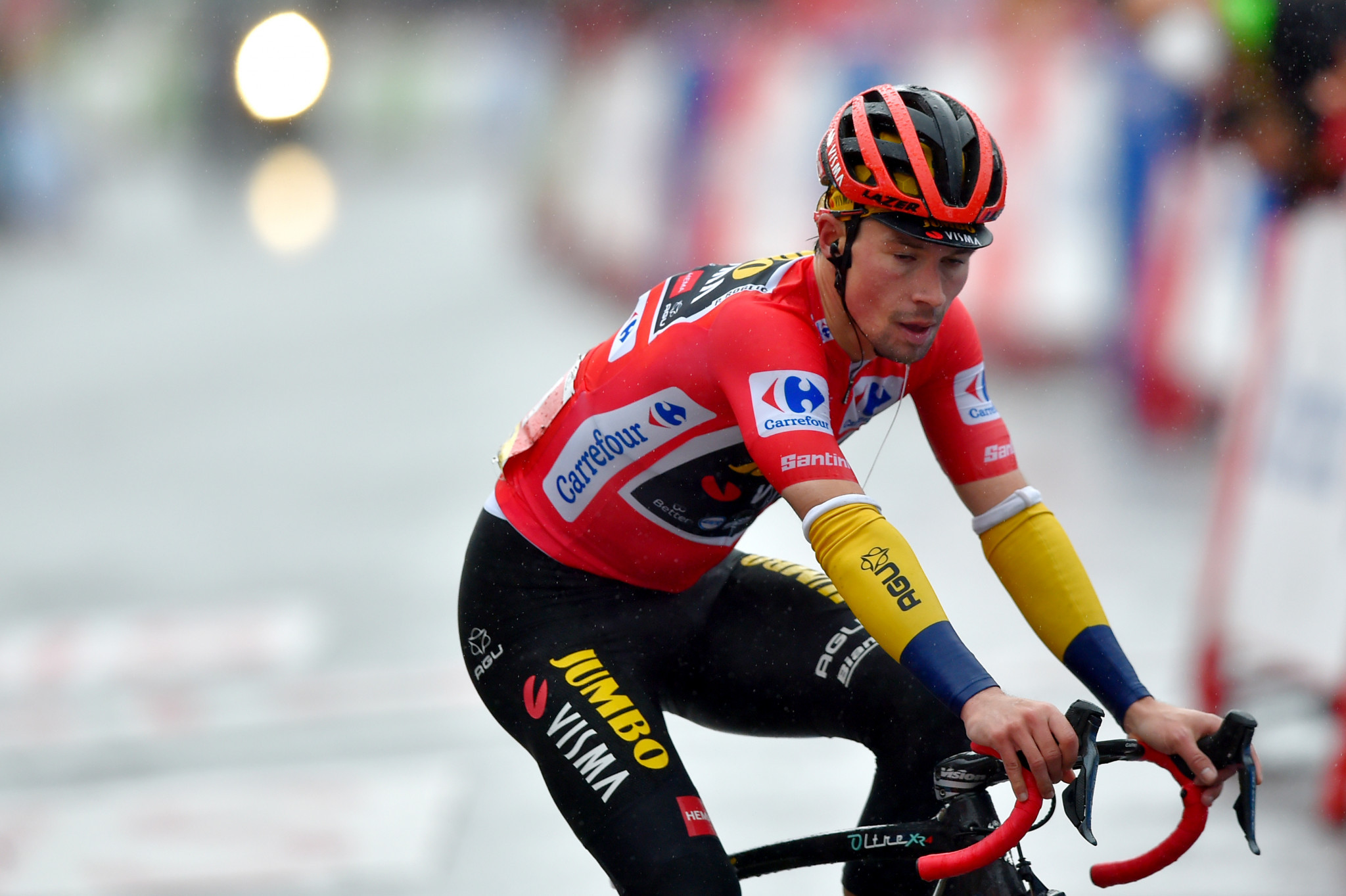Primož Roglič will not be wearing the red jersey come the start of stage seven ©Getty Images