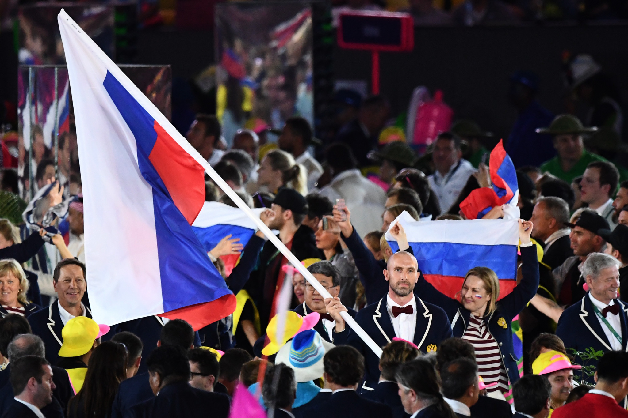 The Russian flag could be banned from appearing at the Olympic Games ©Getty Images