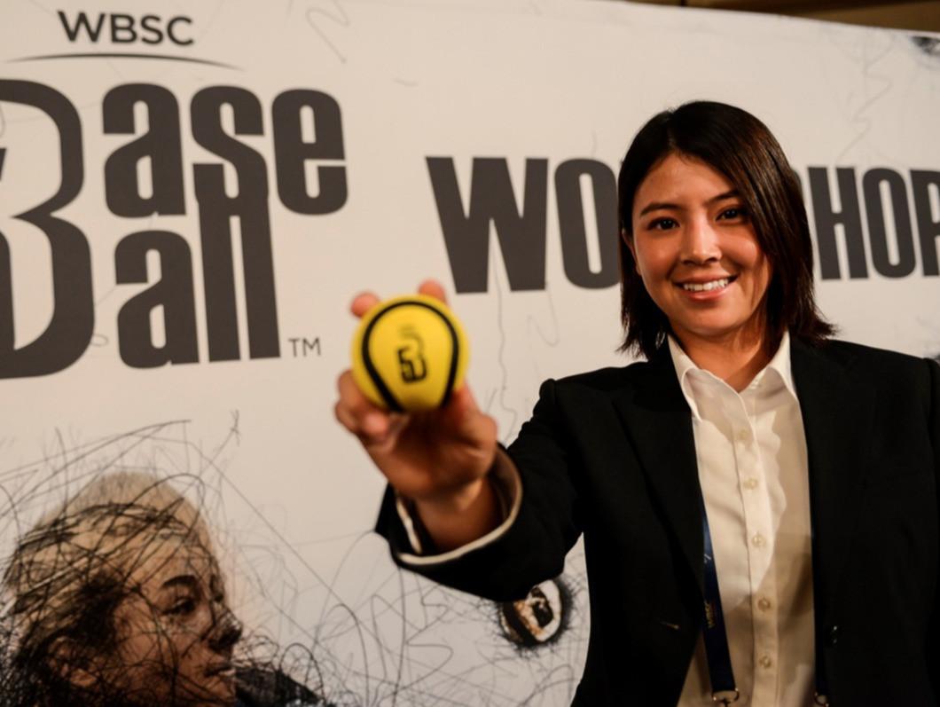Ayako Rokkaku has backed Baseball5 in Japan ©WBSC