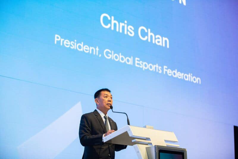 Global Esports Federation Chris Chan set the new organisation the aim of getting esports into the Olympic Games ©GEF