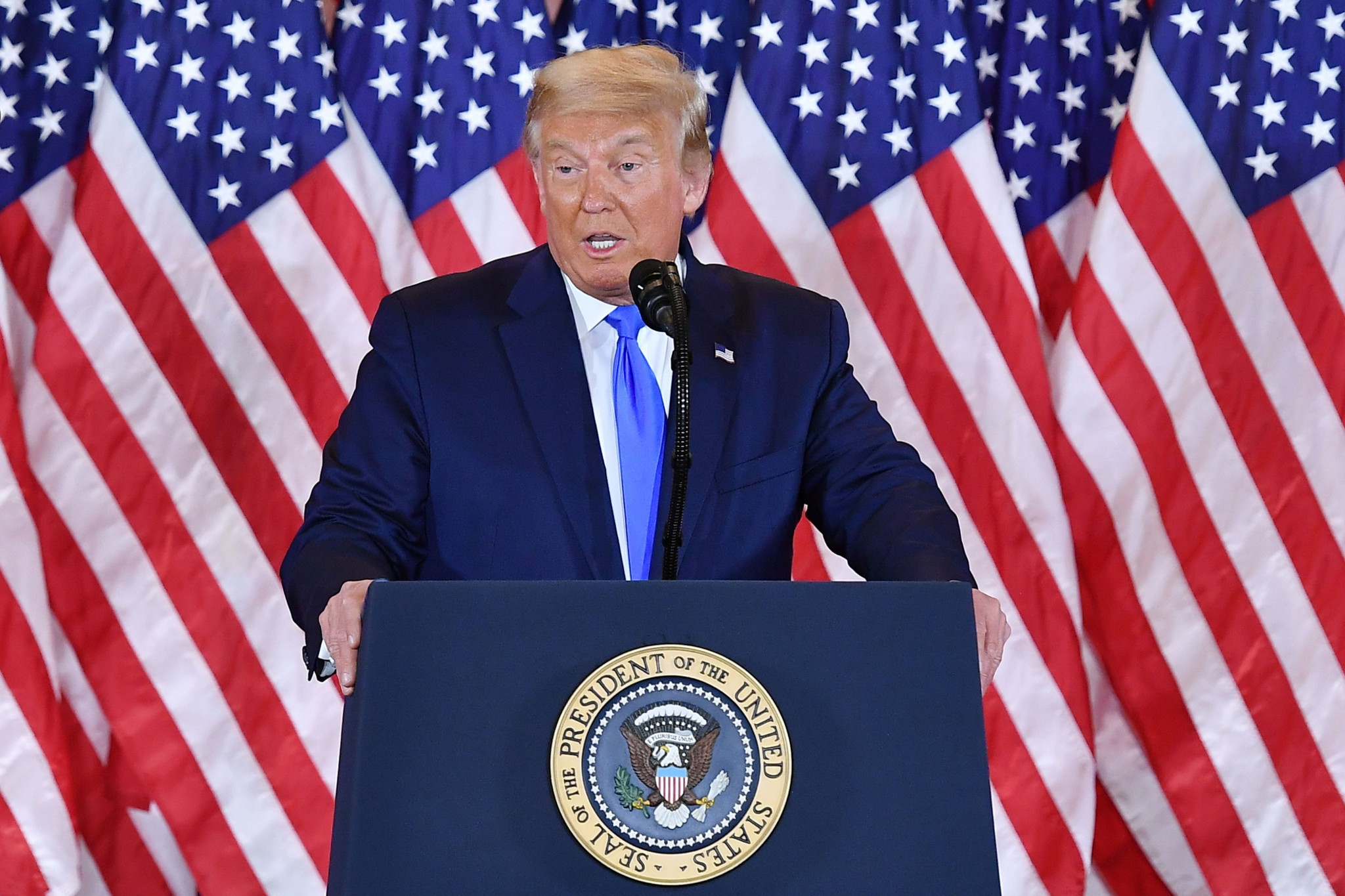 The comments from NOlympicsLA came at a time of uncertainty for the United States, with the country waiting to see if Donald Trump has been re-elected as President ©Getty Images