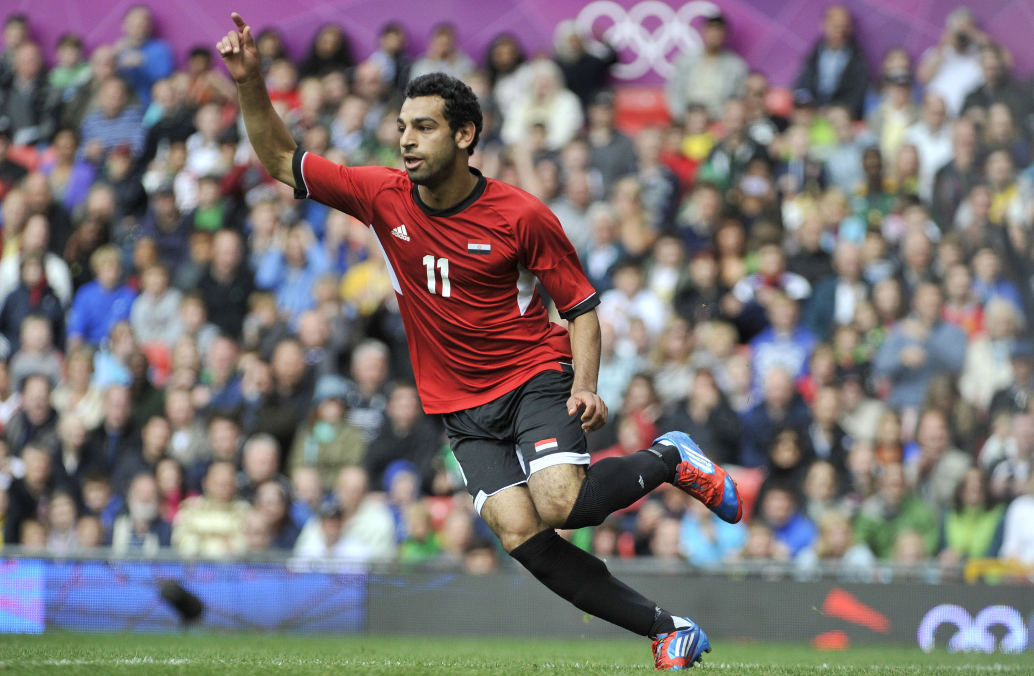 Mohamed Salah scored three goals for Egypt during the London 2012 Olympic Games ©Getty Images