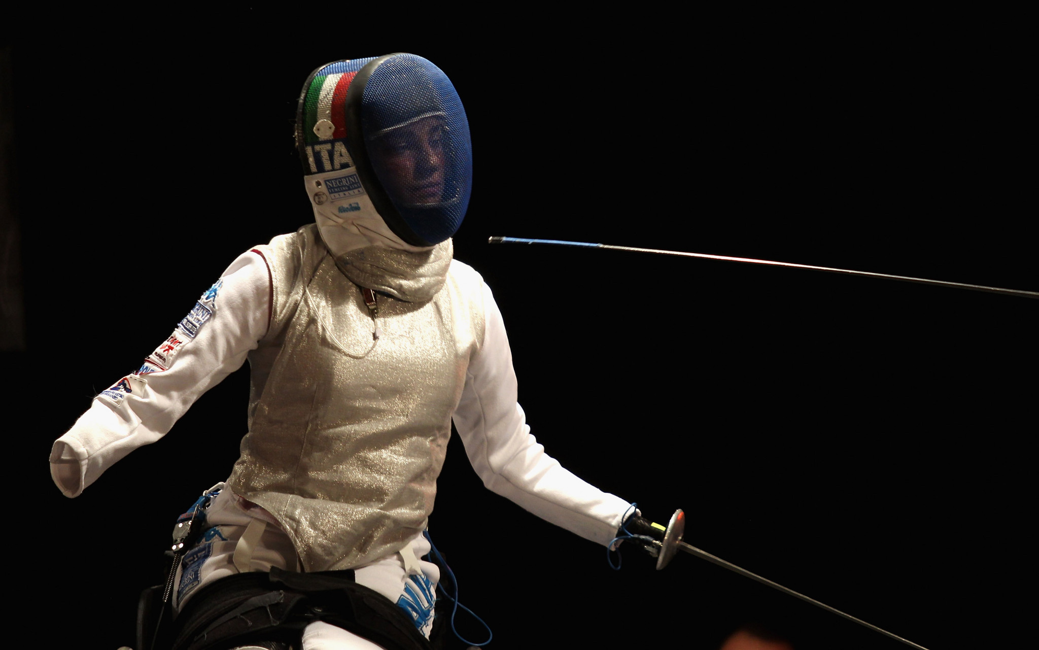 Italy's Bebe Vio was named the best athlete in the women's category B foil ©Getty Images