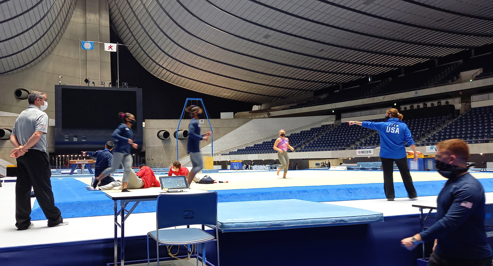 Gymnasts in Tokyo for key preparation event ahead of postponed Olympics
