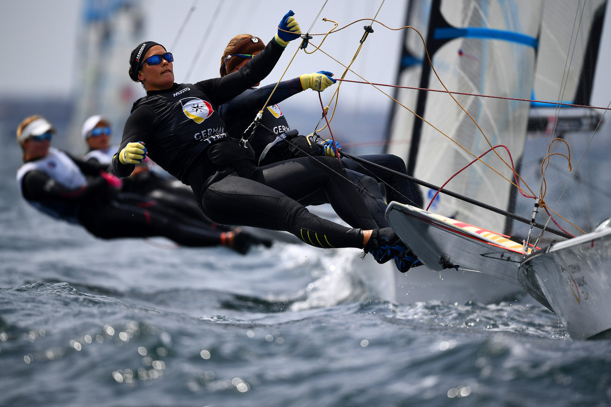 Some of the world's best sailors in the 49er, 49erFX, and Nacra 17 classes are set to compete in Oman ©Getty Images