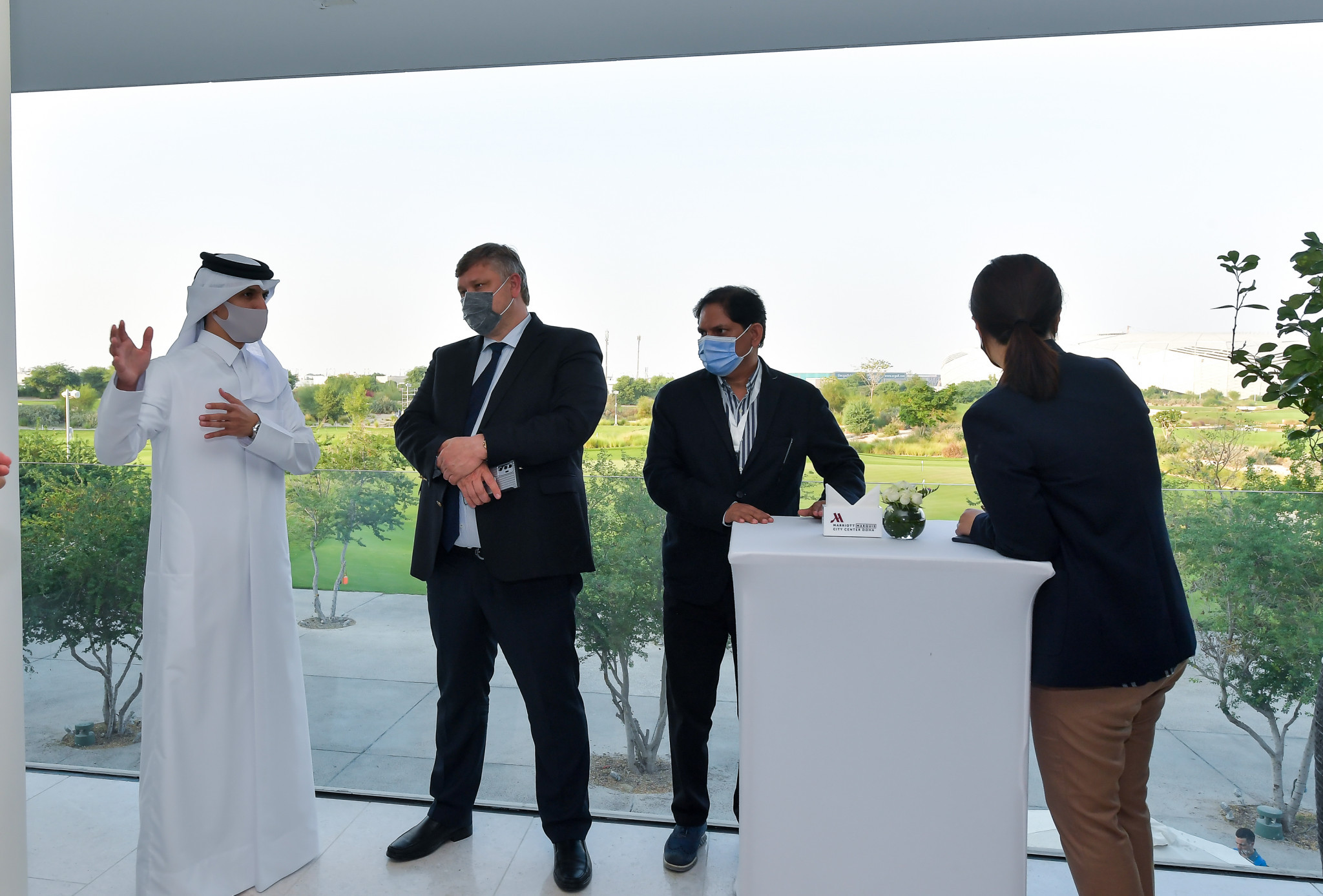 An OCA Evaluation Committee recently visited Doha to assess its 2030 Asian Games bid ©OCA