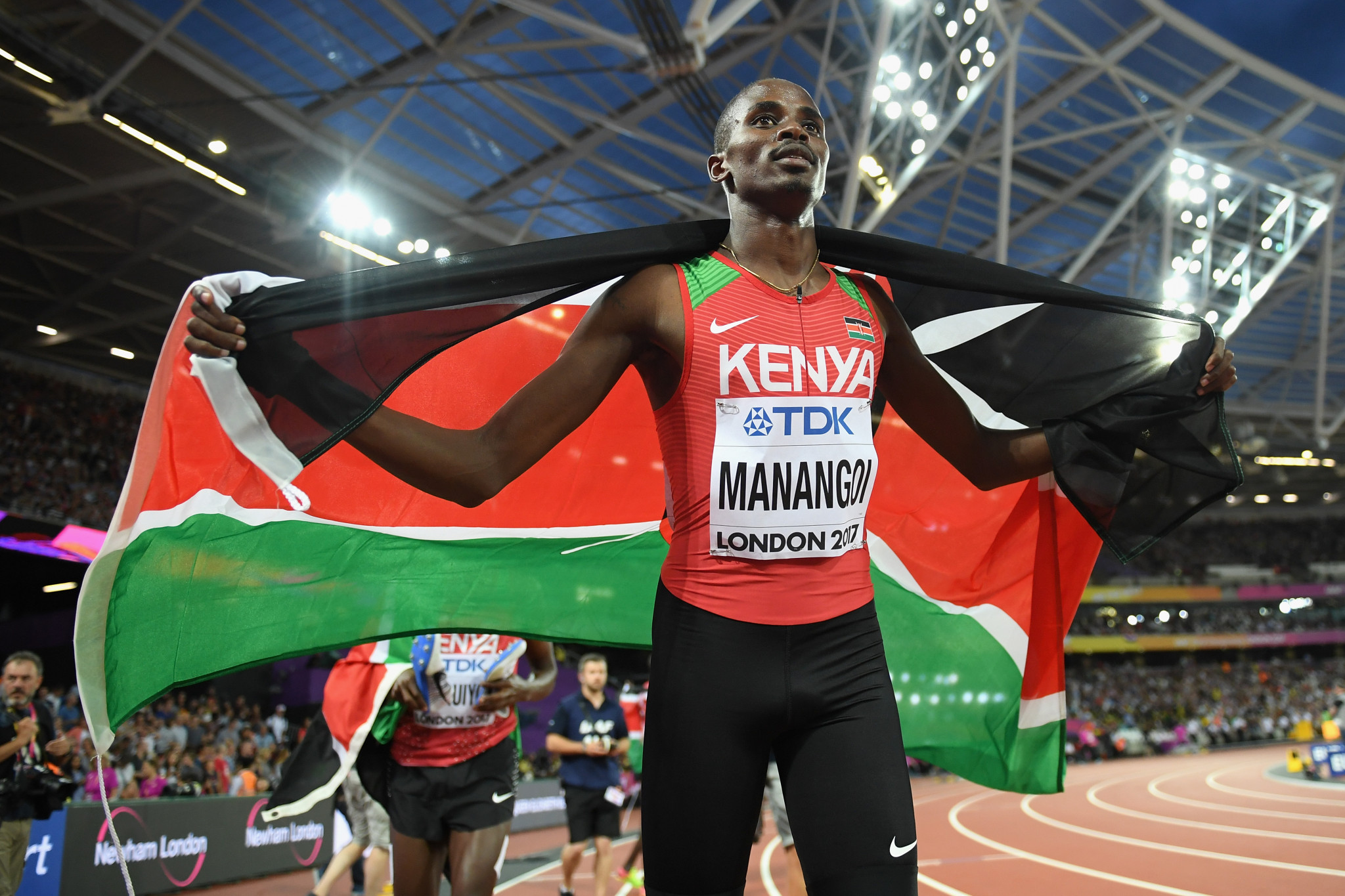 Kenya's 2017 World Championships 1500m gold medallist Elijah Manangoi has been banned for missing three out-of-competition drugs tests ©Getty Images