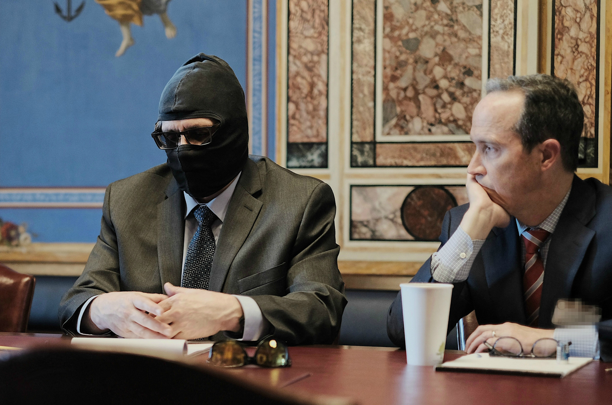 Grigory Rodchenkov, left, appeared at hearings in 2018 when officials began pursuing new anti-doping legislation ©Helsinki Commission