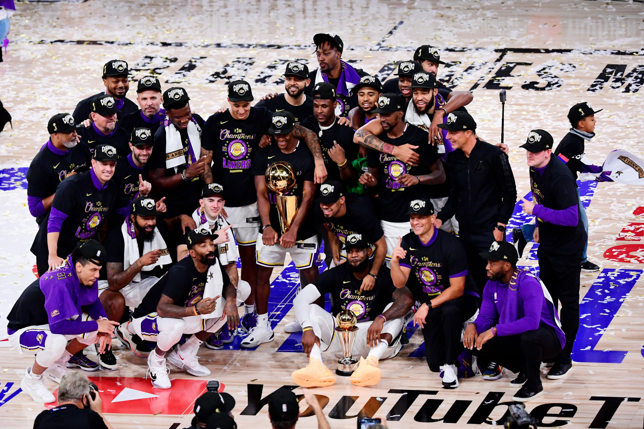 NBA team Los Angeles Lakers were one of the American sports winners to play in front of no fans ©Getty Images