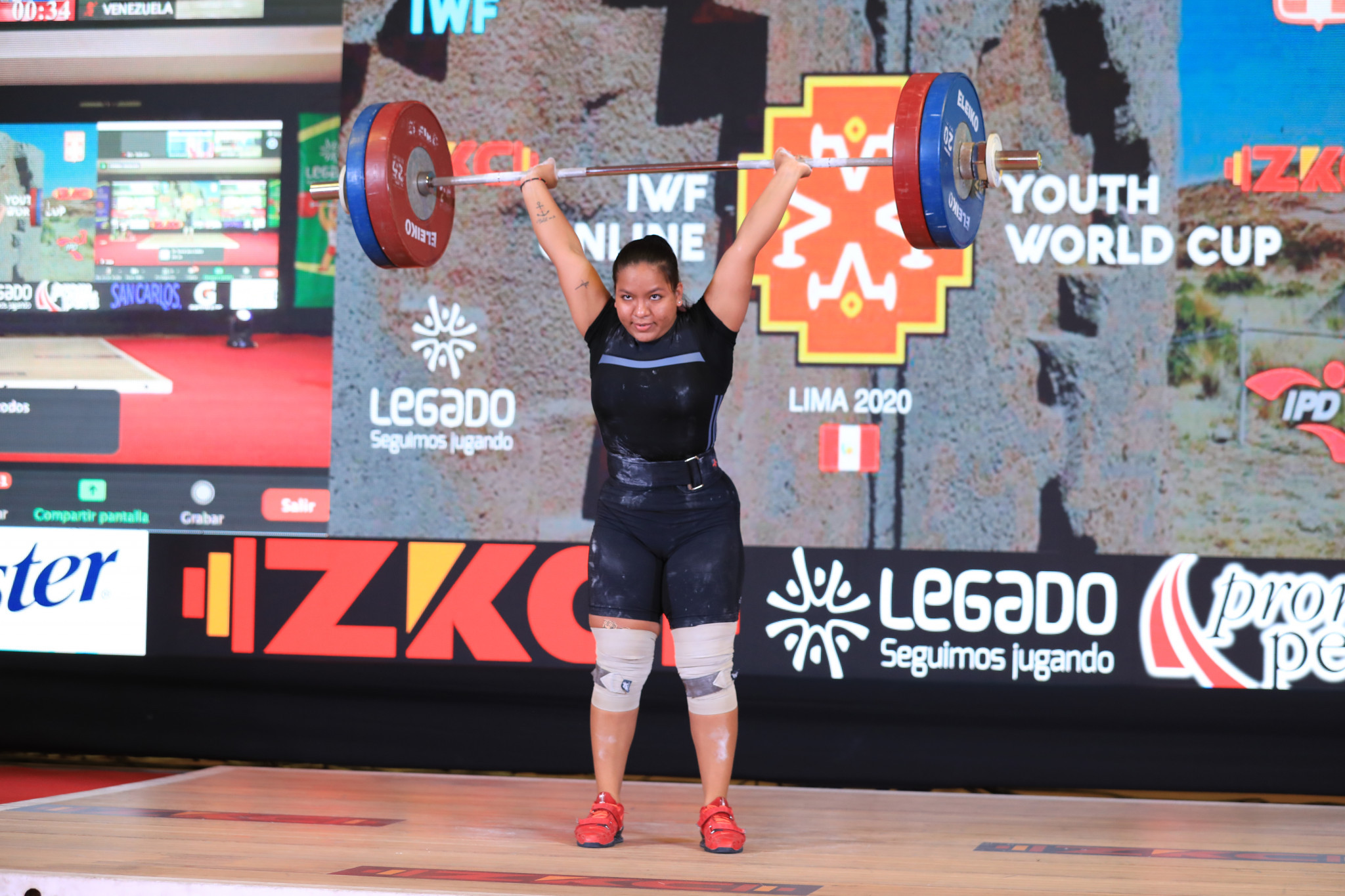 Saldarriaga won all three titles in the women's 81kg class - helping Peru top the medals table ©Peru Weightlifting