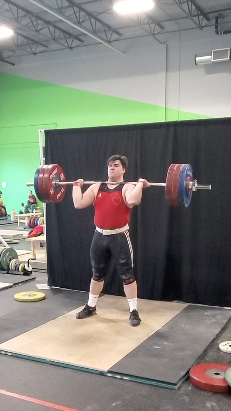Canada's Maxwell Von competed in the men's over-102kg ©Weightlifting Canada