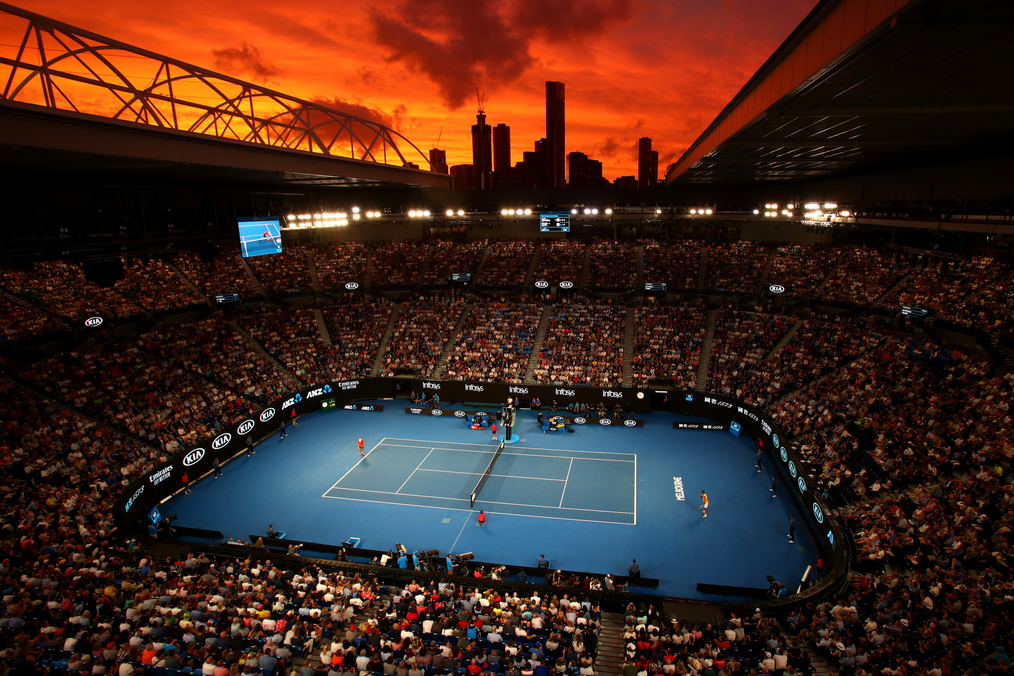 The Australian Open could face postponement due COVID-19 restrictions ©Getty Images