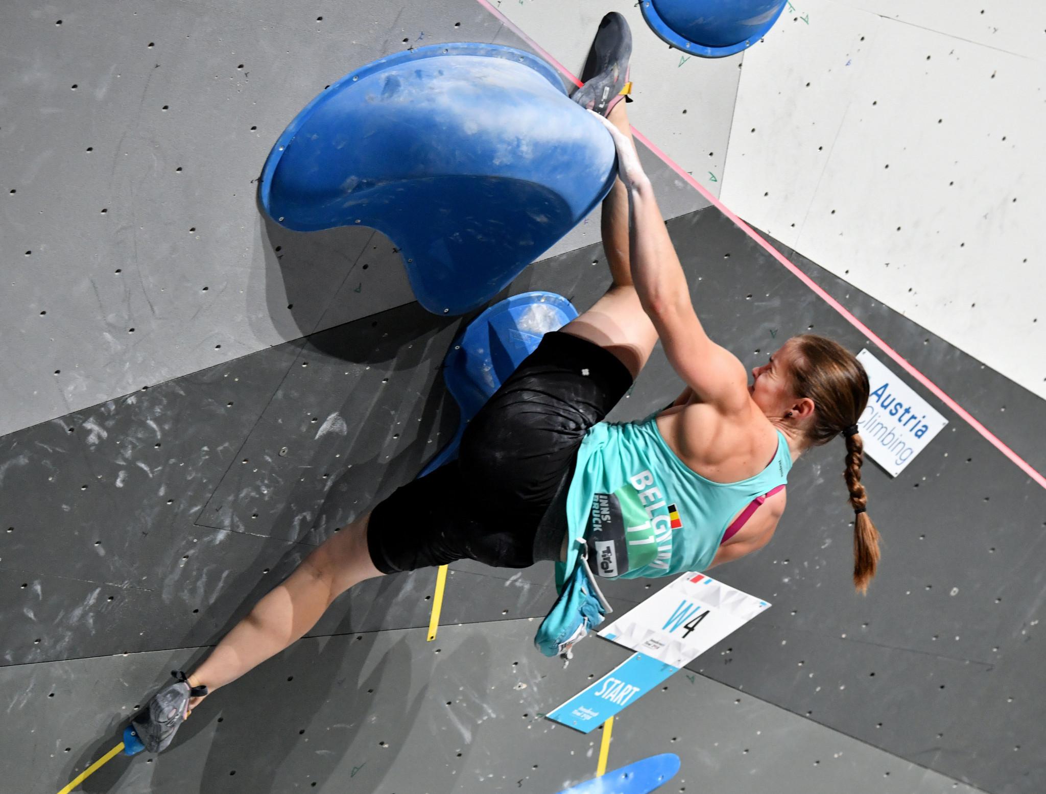 Caulier tops women's boulder qualifying at IFSC European Championships
