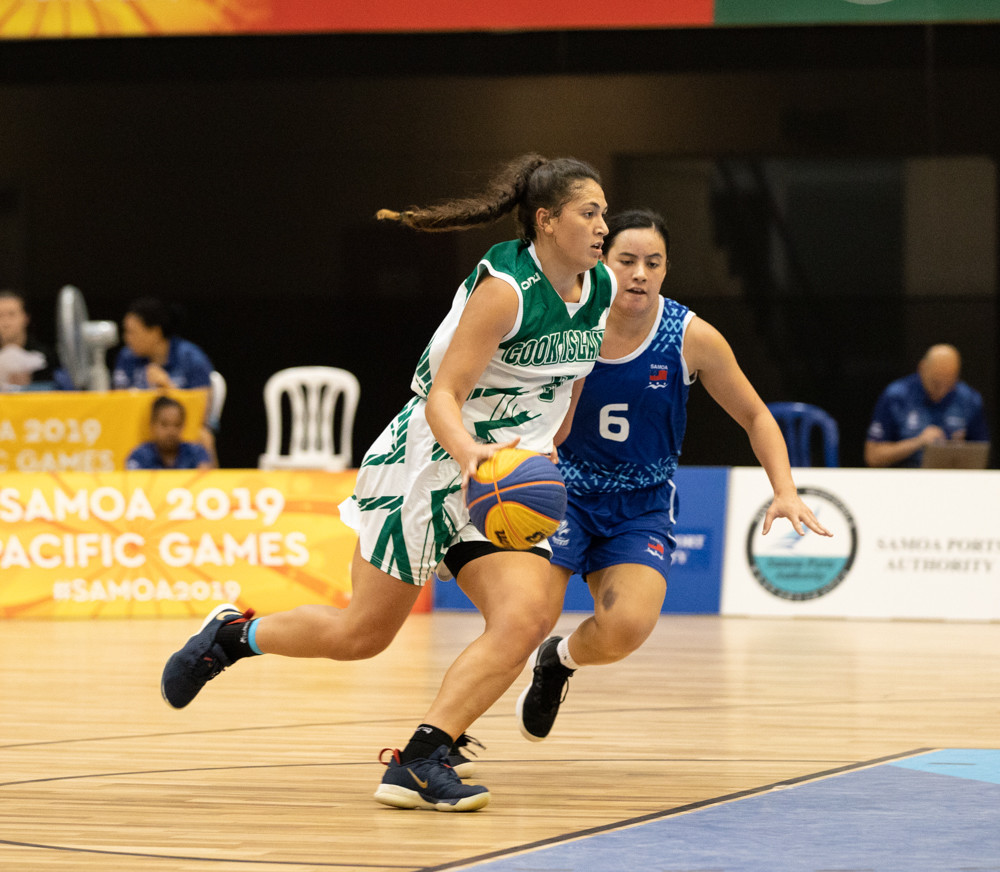 The debut of 3x3 basketball at the Pacific Games in Samoa last year proved to be popular ©Samoa 2019