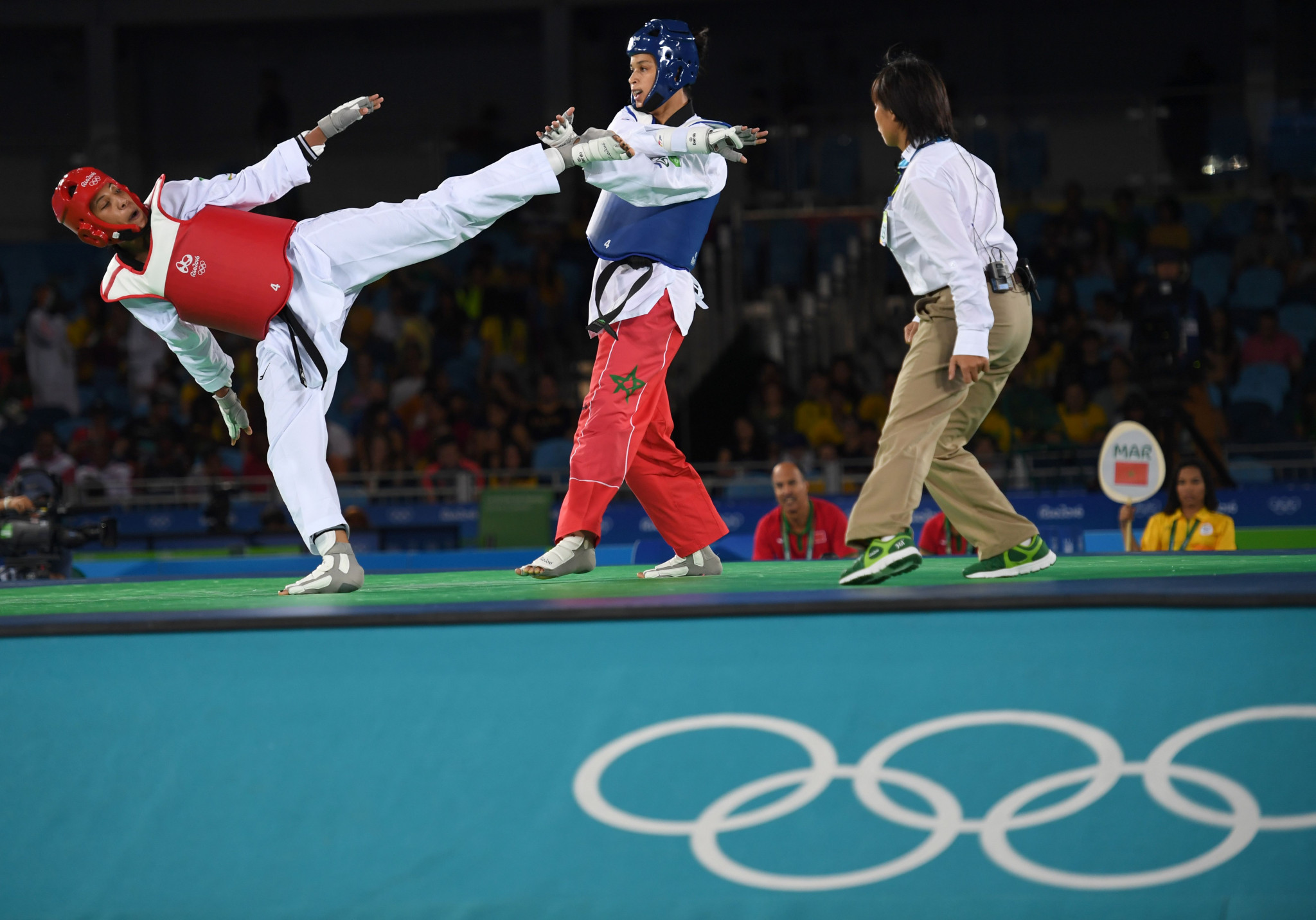 Katherine Rodríguez, left, is hoping for a better outcome at her second Olympic appearance ©Getty Images