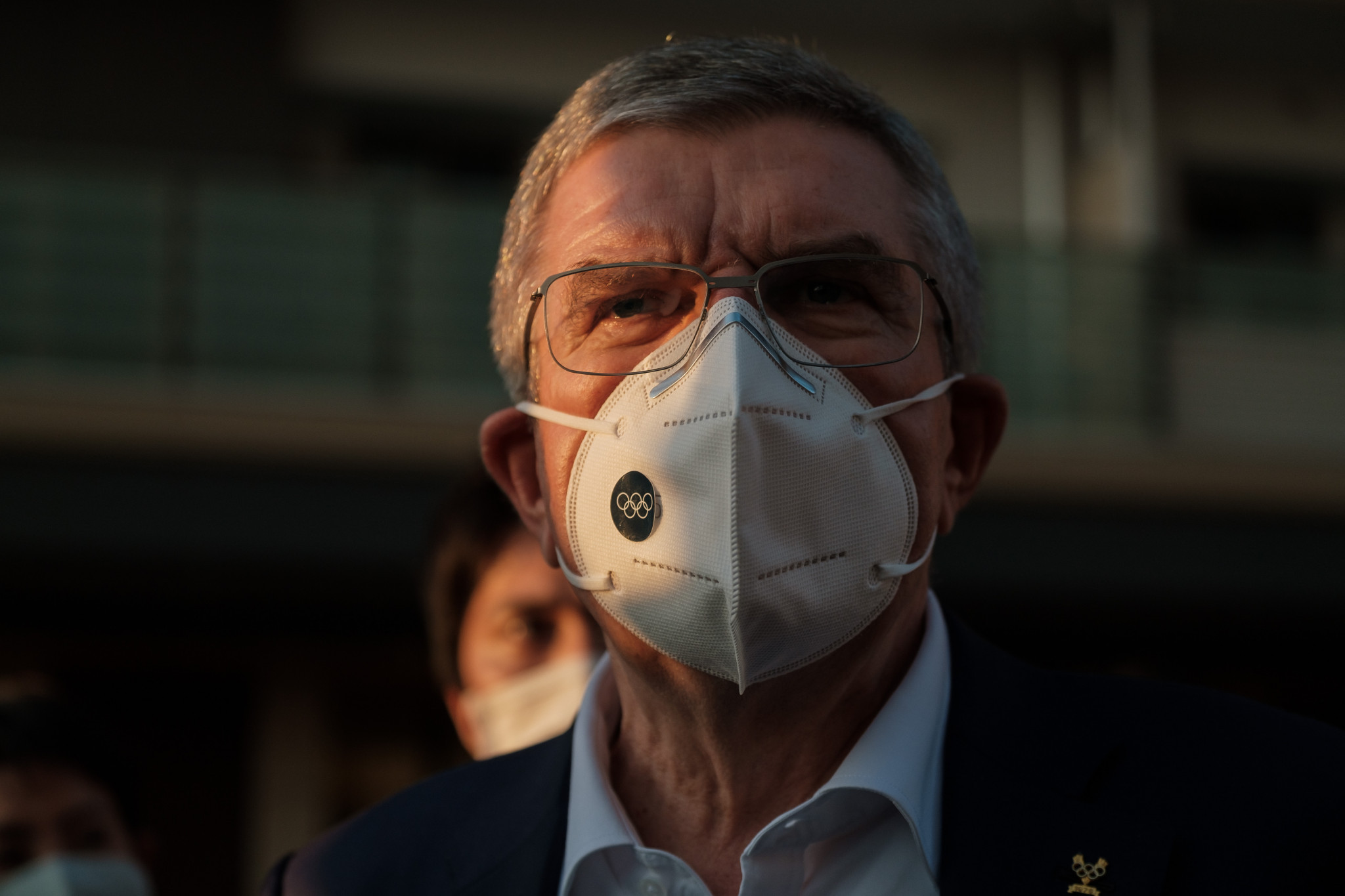 Thomas Bach's visit to Tokyo came coupled with warnings not to sightsee during the Olympics ©Getty Images
