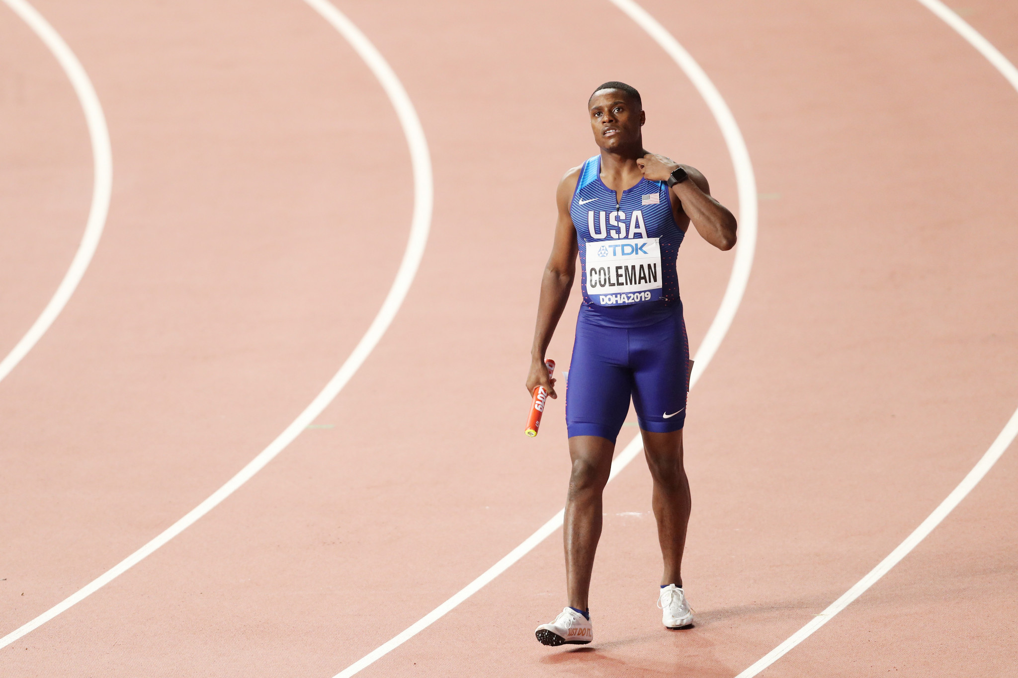 Men's world 100m champion Christian Coleman has appealed a two-year ban for anti-doping offences to the Court of Arbitration for Sport ©Getty Images