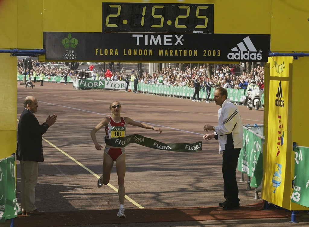 Paula Radcliffe's world record, achieved at the 2003 London Marathon, still stands today