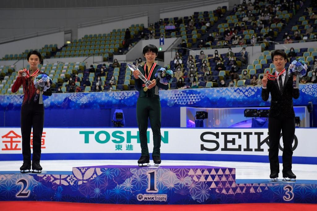 Kagiyama strikes gold on debut as Sakamoto wins first Grand Prix title in Osaka