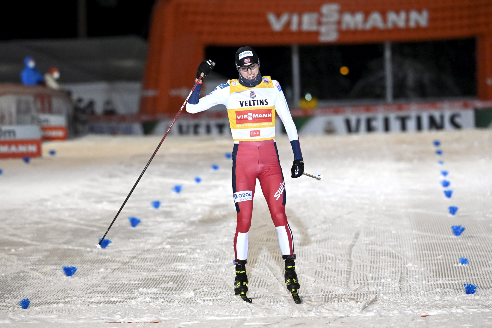 Riiber earns second victory at Nordic Combined World Cup in Ruka