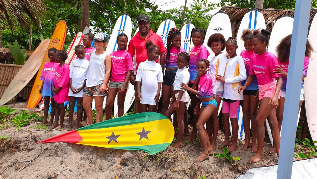 The São Tomé and Príncipe National Olympic Committee is funding surfing lessons for girls ©COSTP