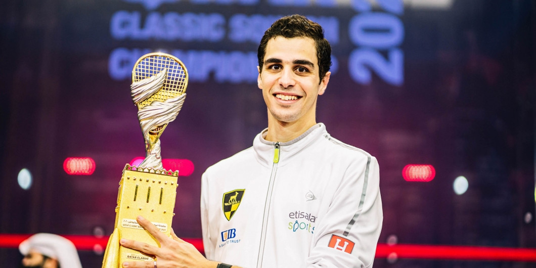 Egypt's Ali Farag has been announced as the World Games Athlete of the Month for November following his victory in the Qatar Classic ©Qatar Classic