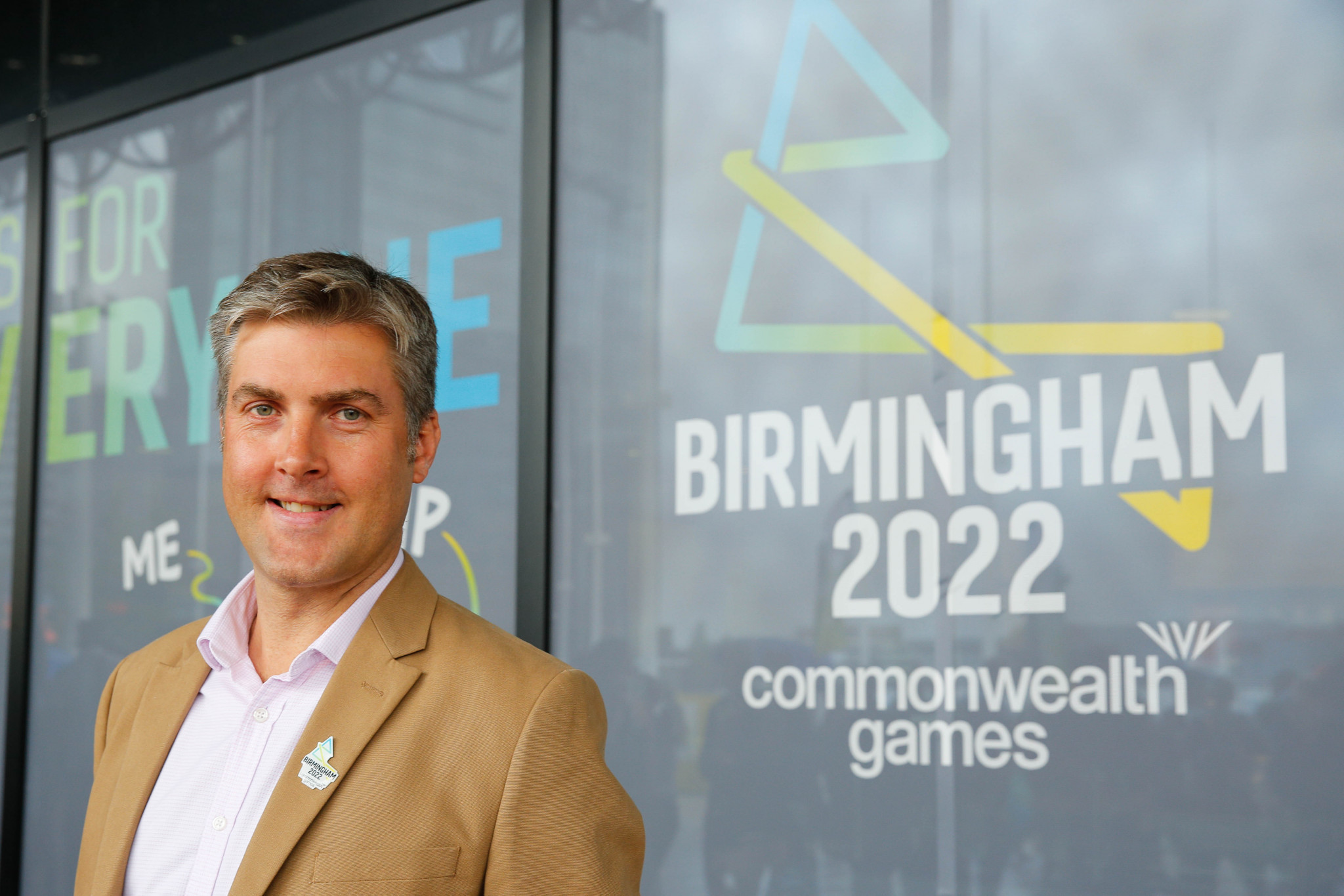 """Birmingham 2022 chief executive Ian Reid insists he is """"comfortable"""" providing athletes with a platform to """"express themselves"""" at the Commonwealth Games ©Getty Images"""
