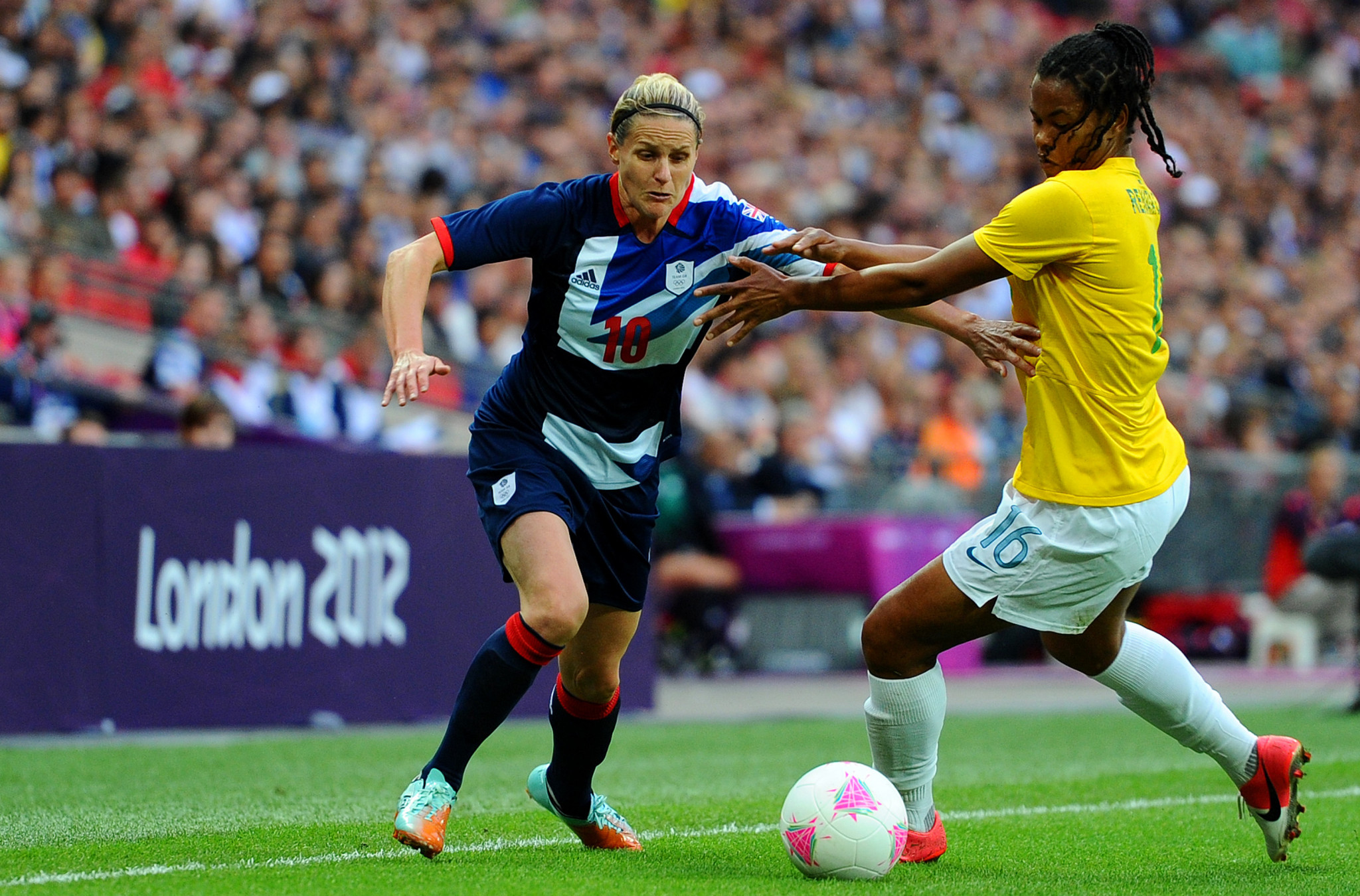 Kelly Smith was among 19 footballers to back FIFA's Safe Home campaign ©Getty Images