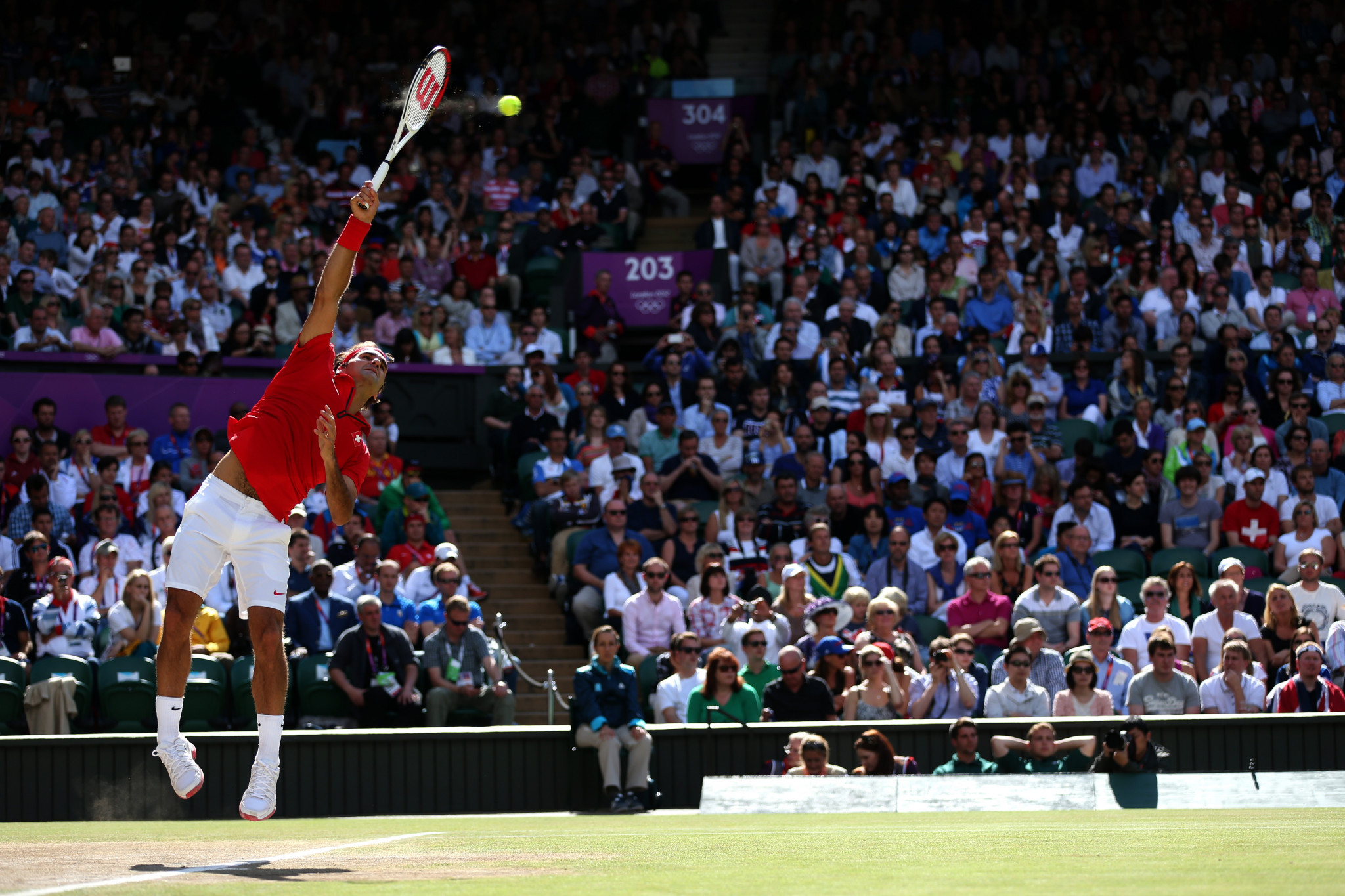 Roger Federer last competed at the Olympics at London 2012, when he finished with silver ©Getty Images