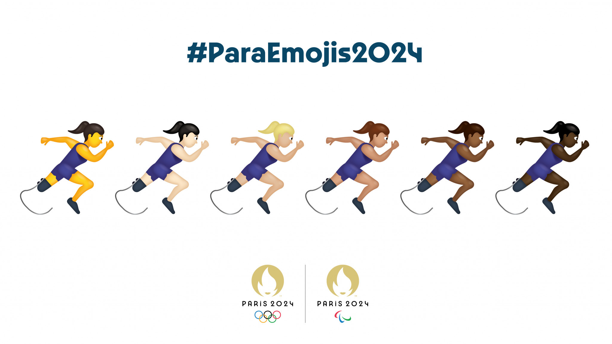 Paris 2024 have launched a campaign to have more inclusive emojis ©Paris 2024