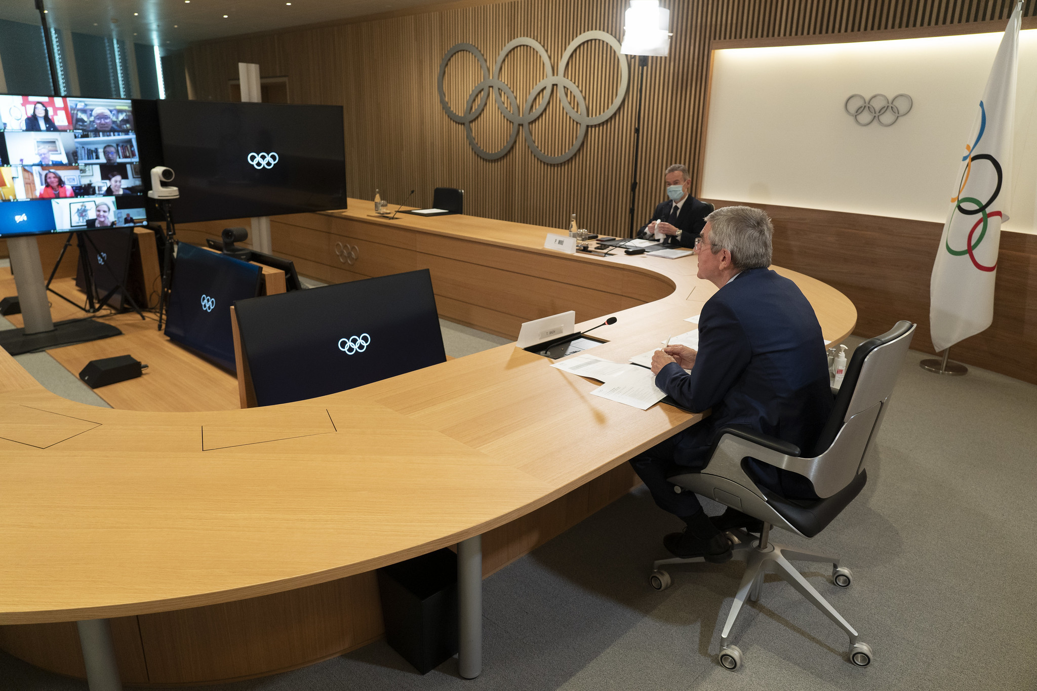 The IOC Executive Board announced a series of measures against the Belarus NOC ©IOC
